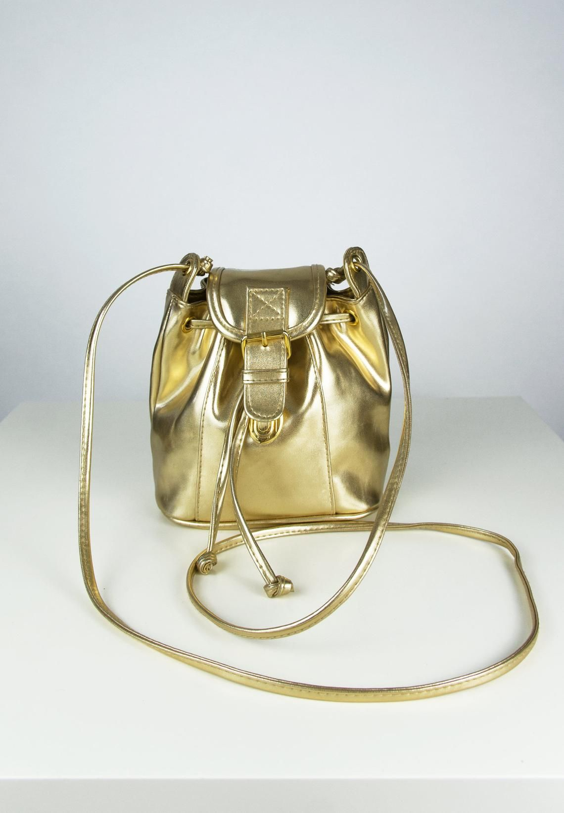 e979d2db0b6c Vintage Gold Bag Small Backpack Metallic Backpack Gold