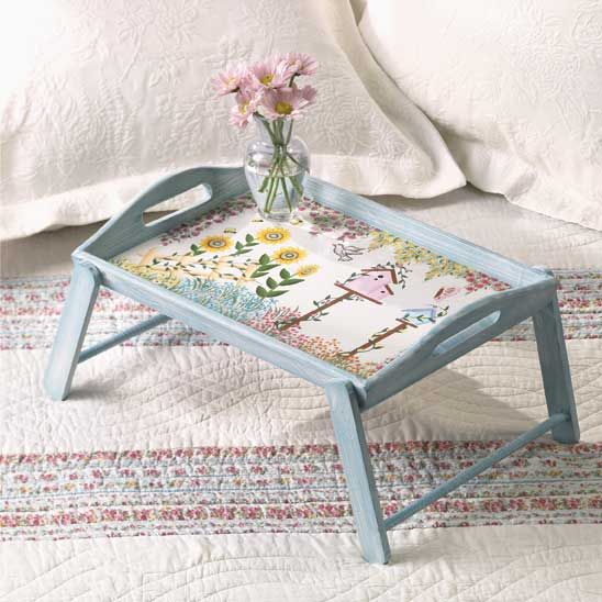 Breakfast Trays For Bed Enchanting Cute Tray Love The Colors For The Home  Pinterest  Trays Inspiration Design