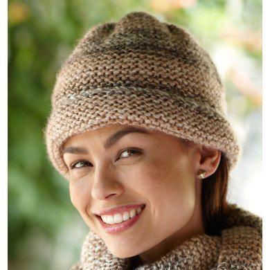 9fd3d213178 Caramel Swirl Hat in Lion Brand Tweed Stripes - L0470 Free ...