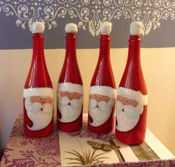 Ideas For Wine Bottle Decoration 12 Amazing Wine Bottle Christmas Crafts  Wine Bottle Crafts