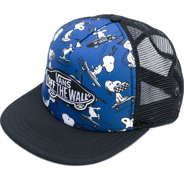 4cd2c9940d6 Vans Snoopy print cap (88 BRL) ❤ liked on Polyvore featuring accessories