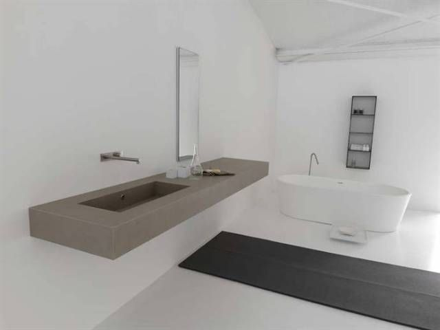 Badkamer wasbakken | LIFS * BATHROOMS | Pinterest | Basin, Concrete ...