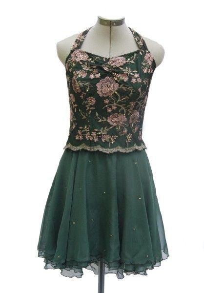 77d5ed0de www.glitzagain.com Dance Costumes, Rhinestones, Glitz, green sheer skirt,  lyrical, flower