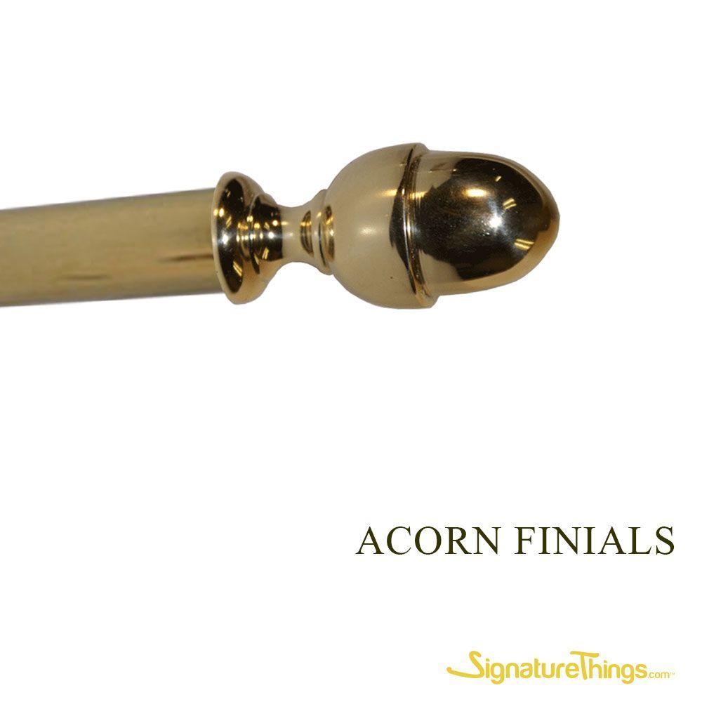 Acorn Brass Finials Decorative Curtain Rods Finials Window