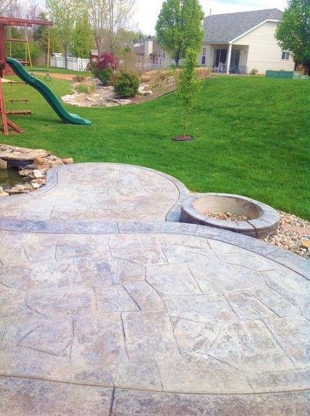 Who Says A Concrete Repair Can T Be This Stunning Learn More About Decorative Concrete Resurfa Concrete Patio Stamped Concrete Patio Decorative Concrete Patio