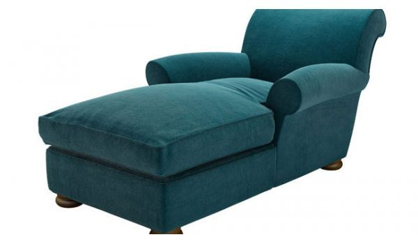 Sunday Day Bed | Chaise Longue Sofas | Sofa.com  Deep turquoise matt velvet £730