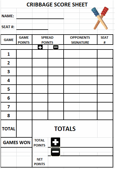 Cribbage Score Sheet Edit  Printable