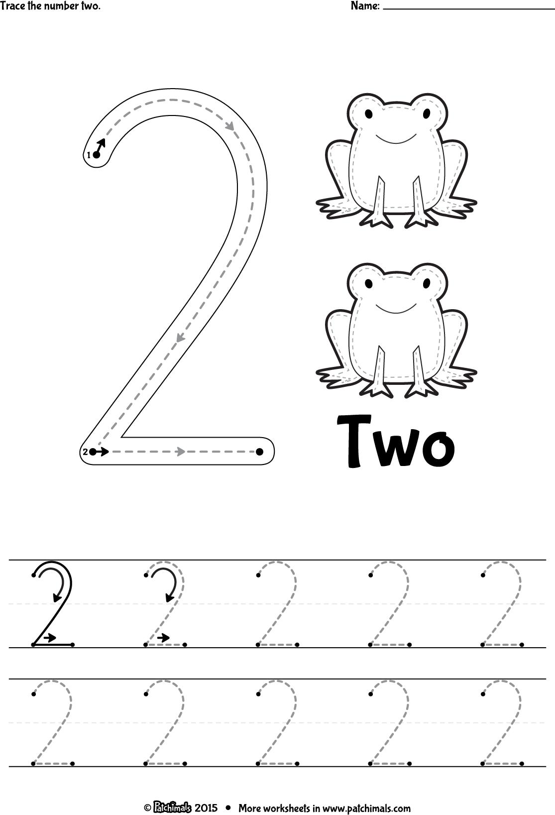 trace_number_2_eng.png 1,115×1,637 pixels | preschool | Pinterest ...