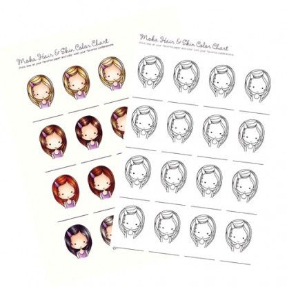 - Moka Hair & Skin Color Chart Skin Color Chart, Copic Coloring, Copic Color  Chart