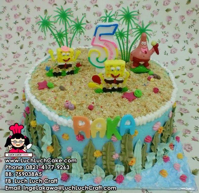 Kue Tart Spongebob Daerah Surabaya Sidoarjo Kue Kue Kue Ulang