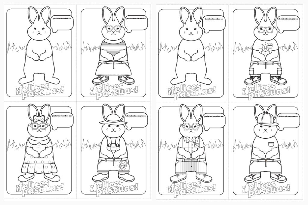 Felices Pascuas Easter Cards And Coloring Sheets In Spanish