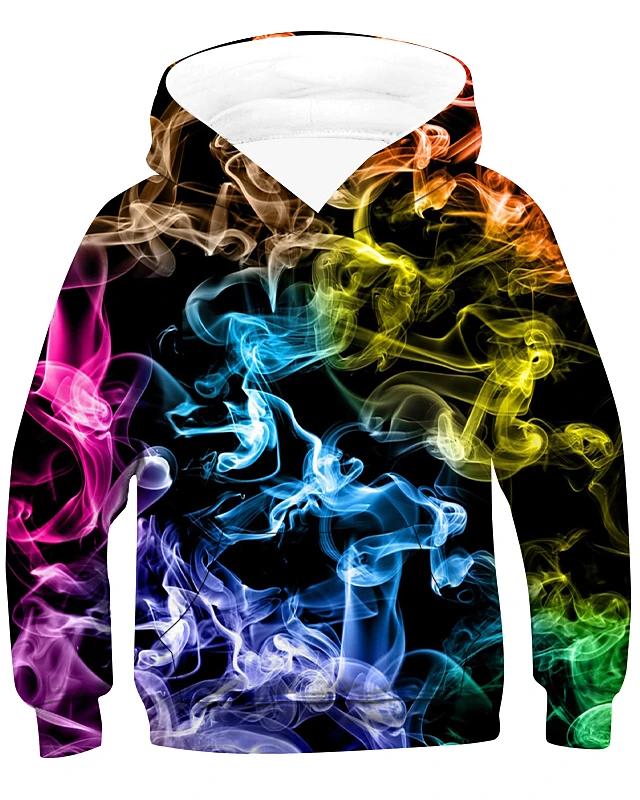 Kids Boys' Active Basic Rainbow Long Sleeve Hoodie & Sweatshirt Rainbow  2020 - US $20.89 | Hoodies men pullover, Long sleeve hoodie, Sweatshirts  hoodie