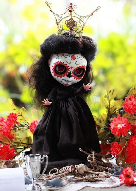 Sugar Skull Day Of The Dead Blythe Doll Blythe Dolls