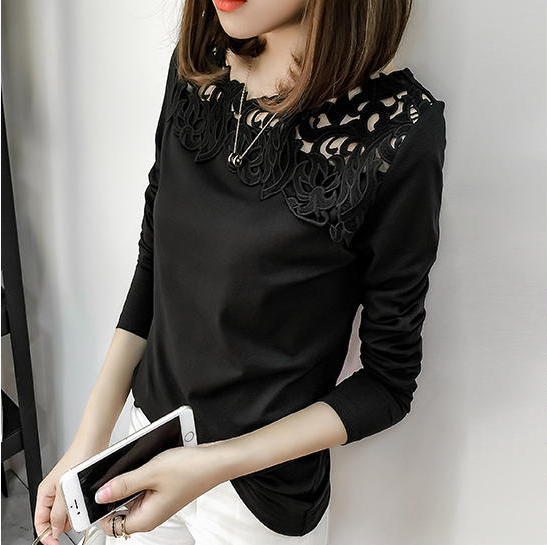 Hollow Lace bottoming shirt, Php415.00