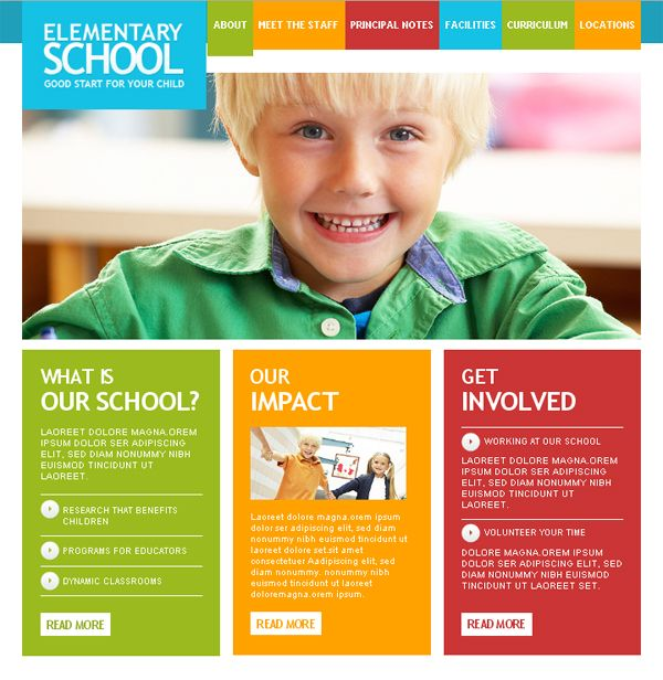 joomla template – elementary school | Design inspiration ...