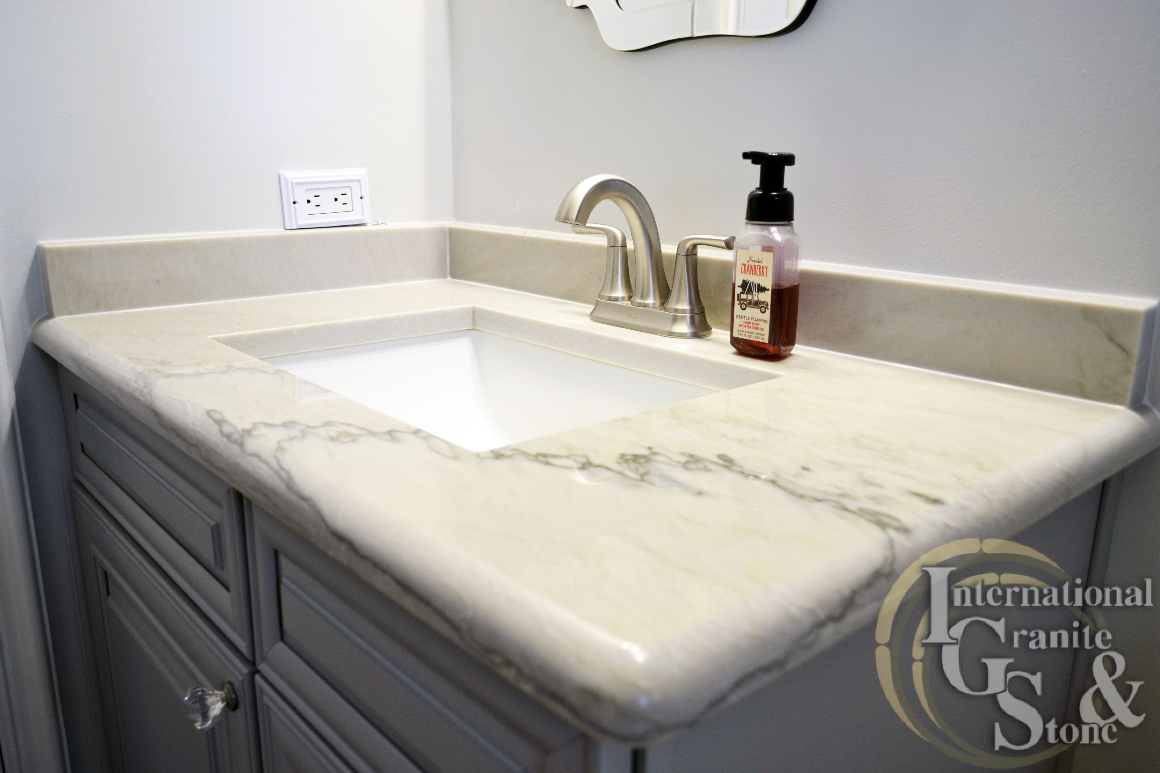 White Quartzite Bathroom Vanity Countertops In Fort Myers, Fl |  International Granite And Stone Cambria