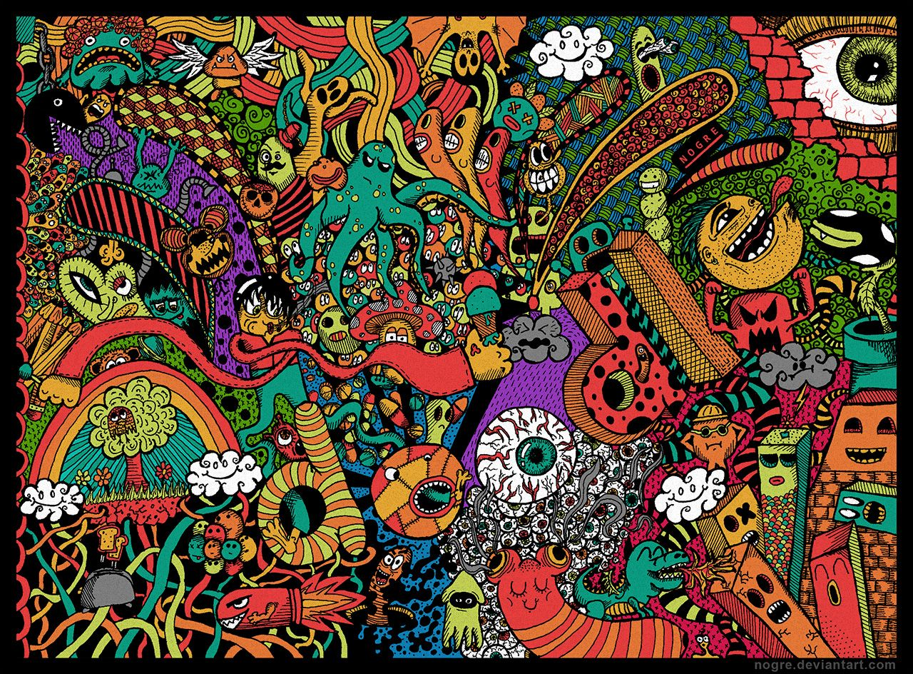Colorful Doodle Wallpaper Google Search Designs Pinterest