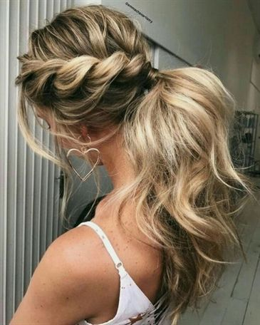 Ponytails 25 Chic Bridesmaid Hairstyles For Long Hair Weddinghairstyles Bridesmaid Hair Medium Length Medium Hair Styles Hair Styles