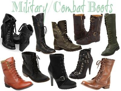 Military boots can be really fun if done with the right outfit