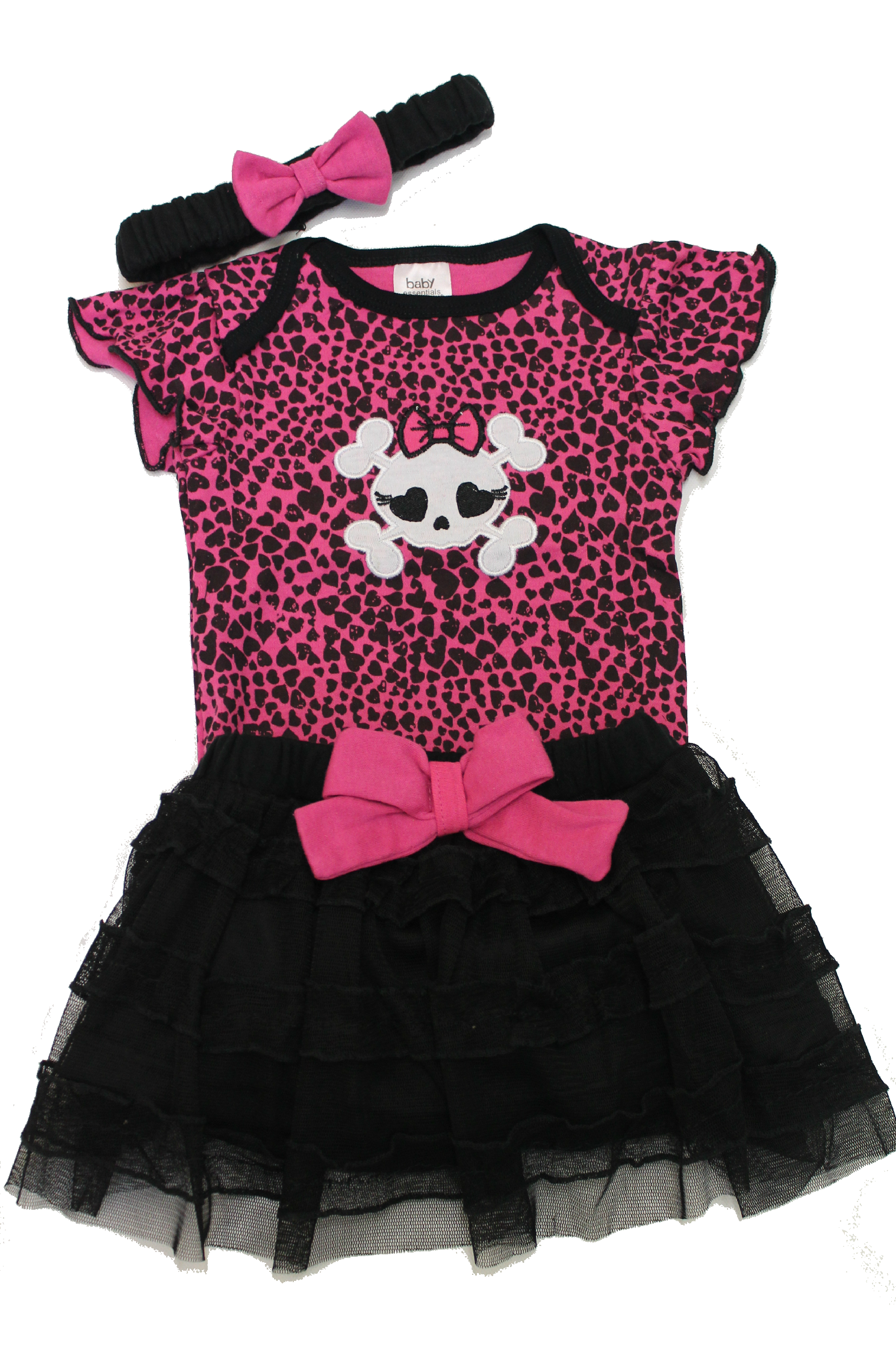 3 Piece Girls Punk Baby Outfit   Punk baby clothes, Punk ...