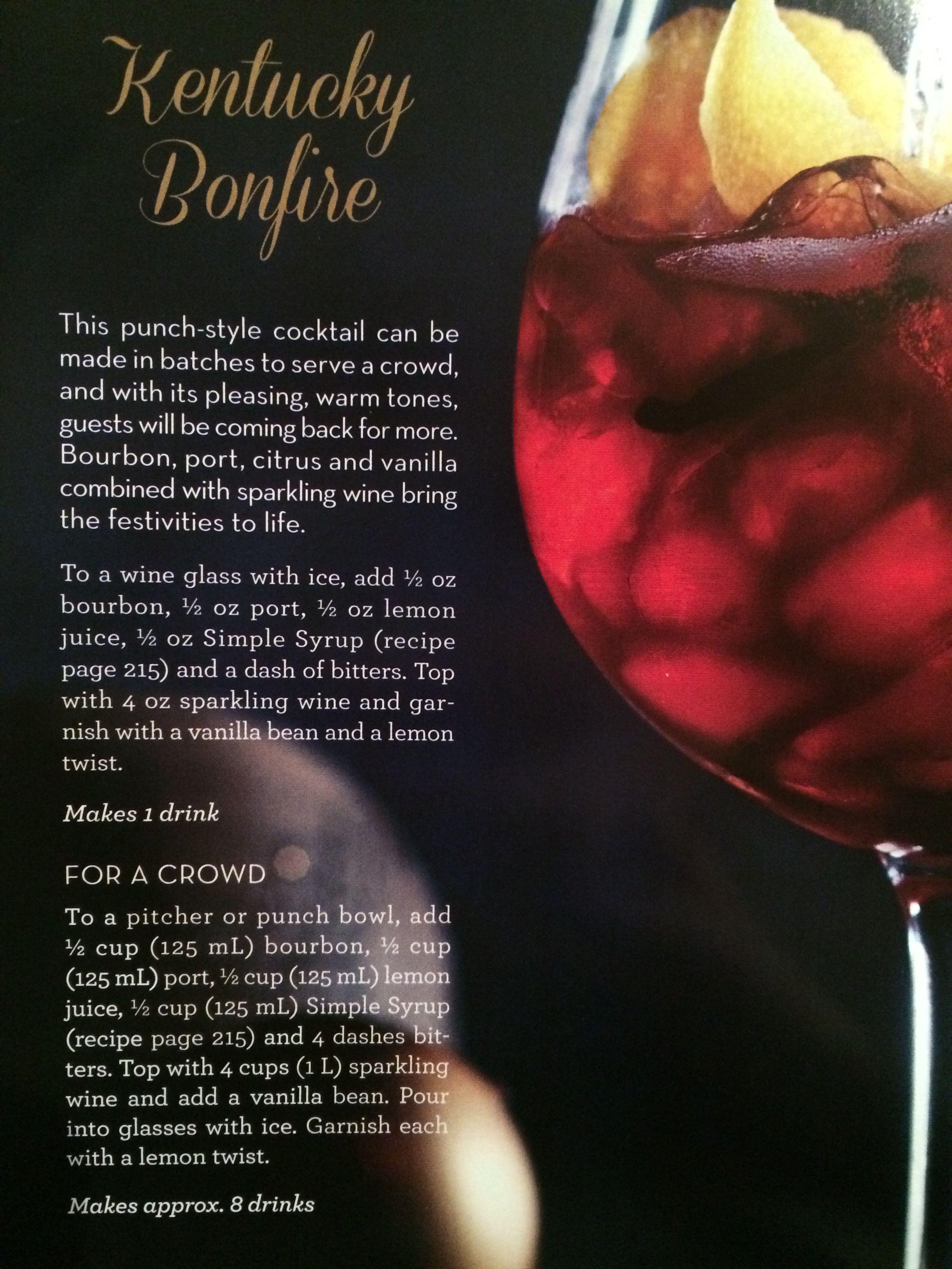 Kentucky Bonfire Sparkling Wine Citrus Wine Glass