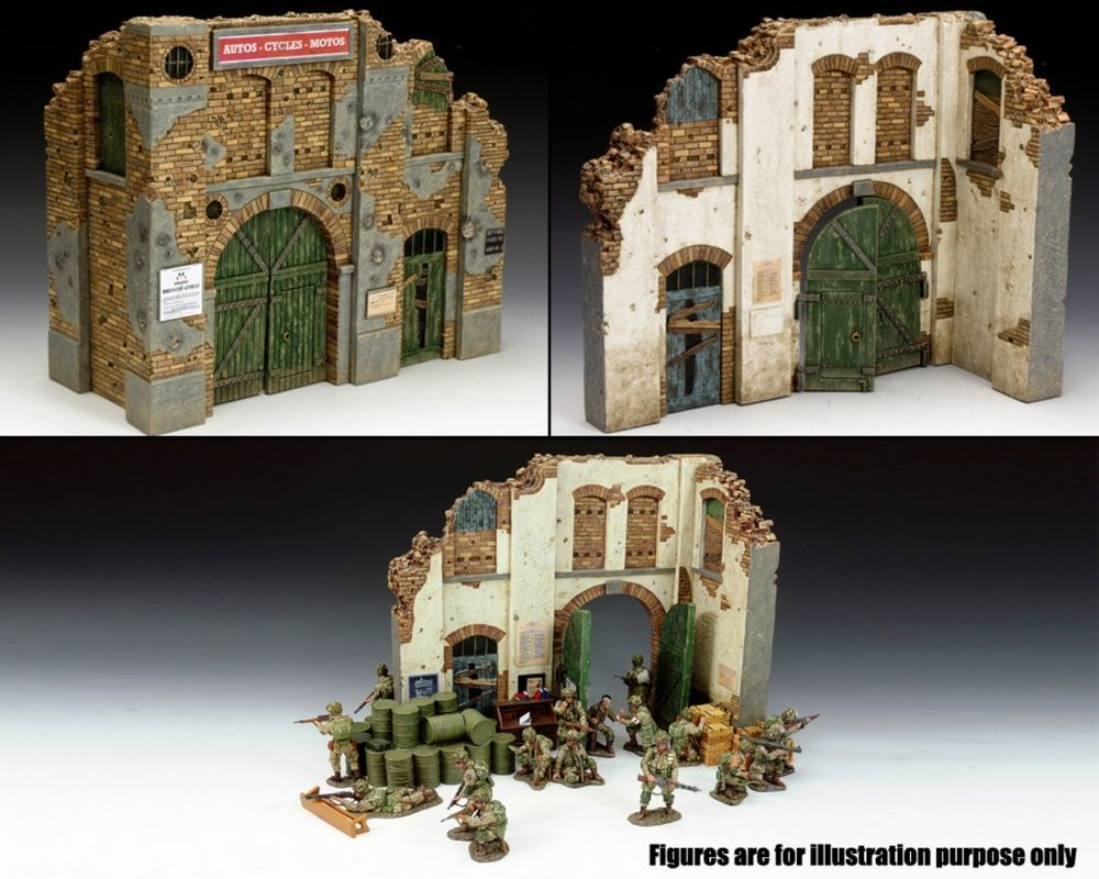 Diorama Accessories SP065 Battle Damaged Building Made by King