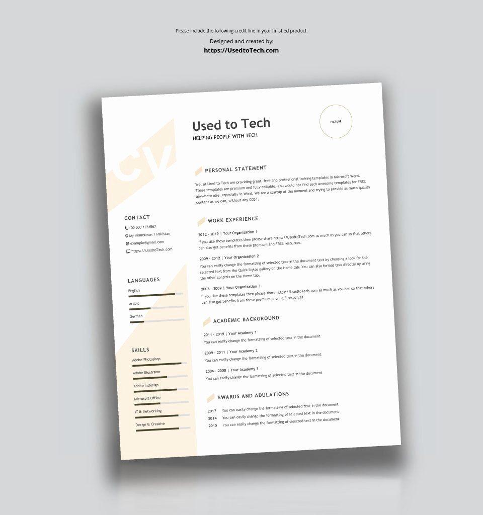 Modern resume template word best of modern resume template