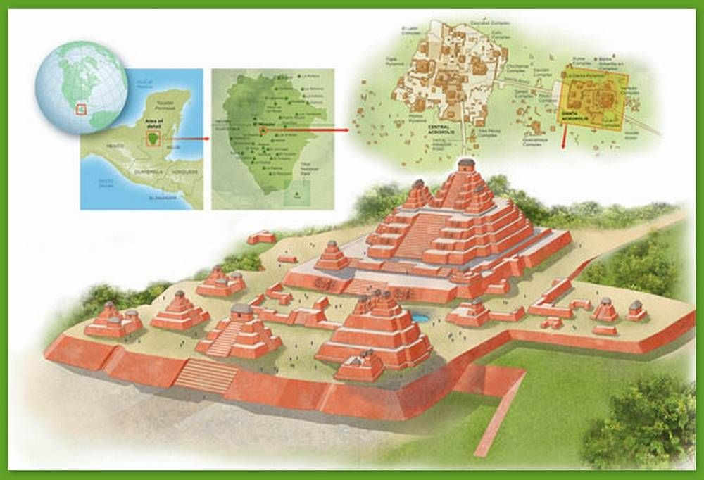 Mayan city of el mirador recreation illustrations bing for El mirador de villalbilla
