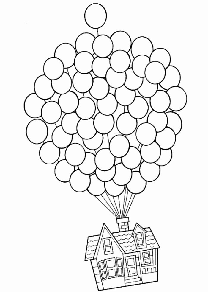 Disney Home Coloring Pages in 2020   House colouring pages