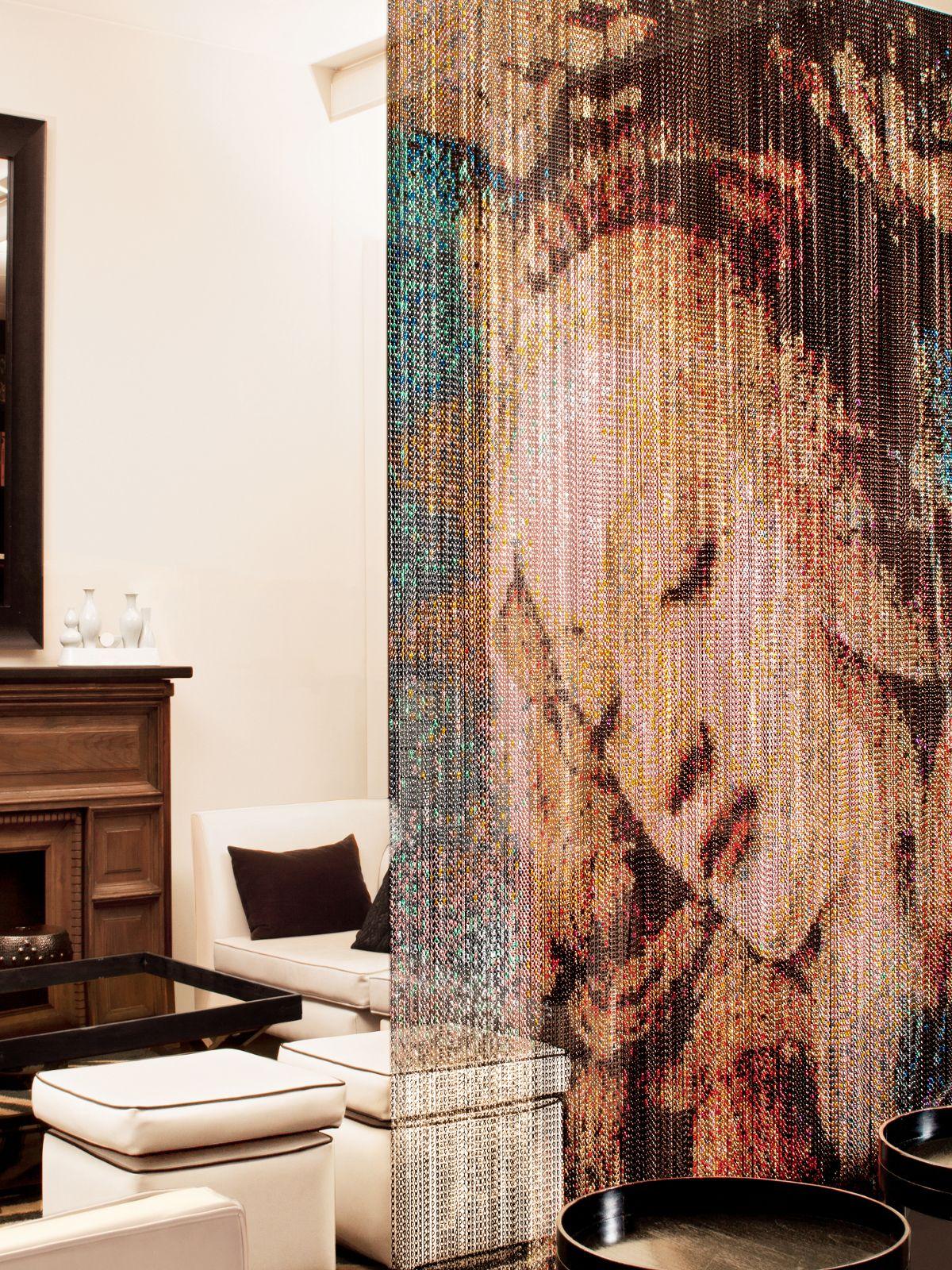Room Divider Curtain In Aluminium - Botti
