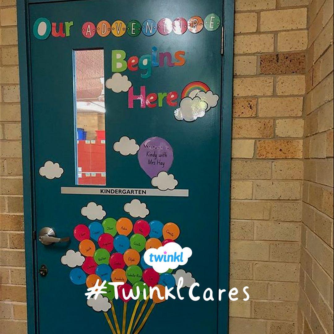 Our Adventure Begins Here Great Adventure Themed Classroom Door