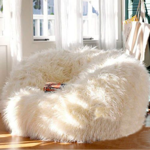 400l Extra Large Faux Fur Bean Bag Fluffy Shaggy Plush Beanbag Bean Bag Chair Home Furniture