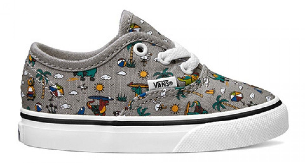 Vans Toddler Authentic (Dino Party Train) Drizzle True White  203df4aaa