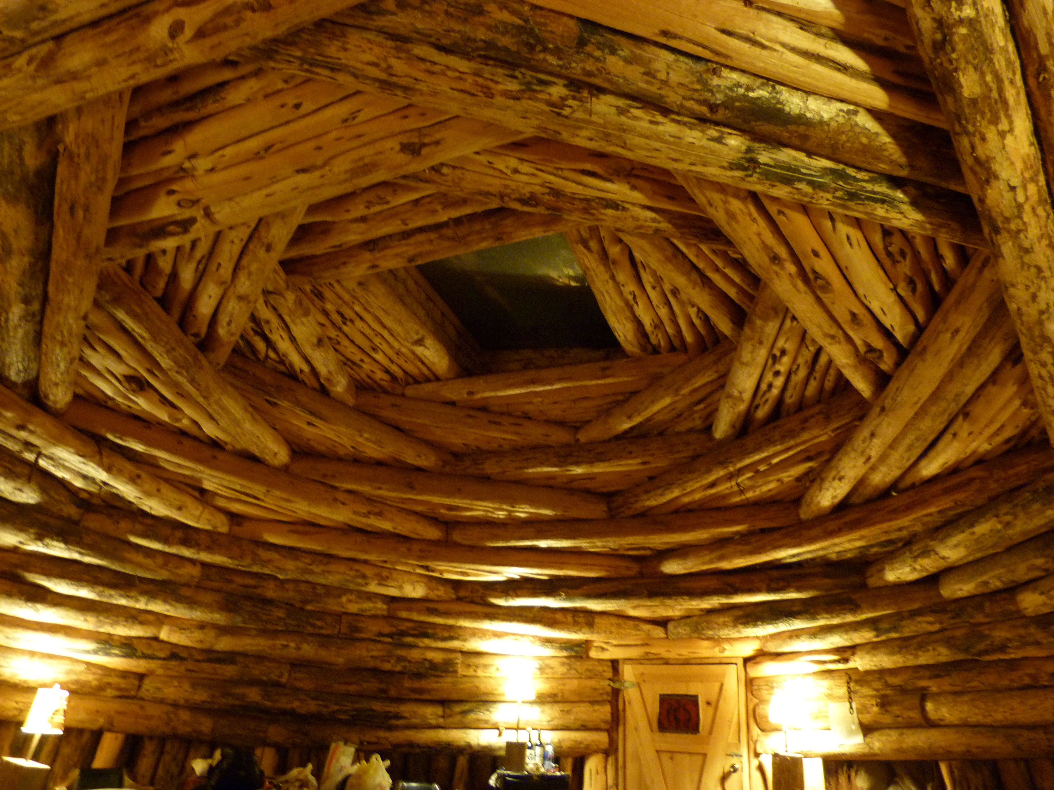 Inside Of A Hogan Roof Navajo Traditional Building