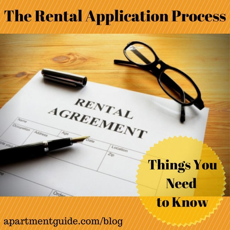 The Rental Application Process If itu0027s your first time renting - apartment rental application