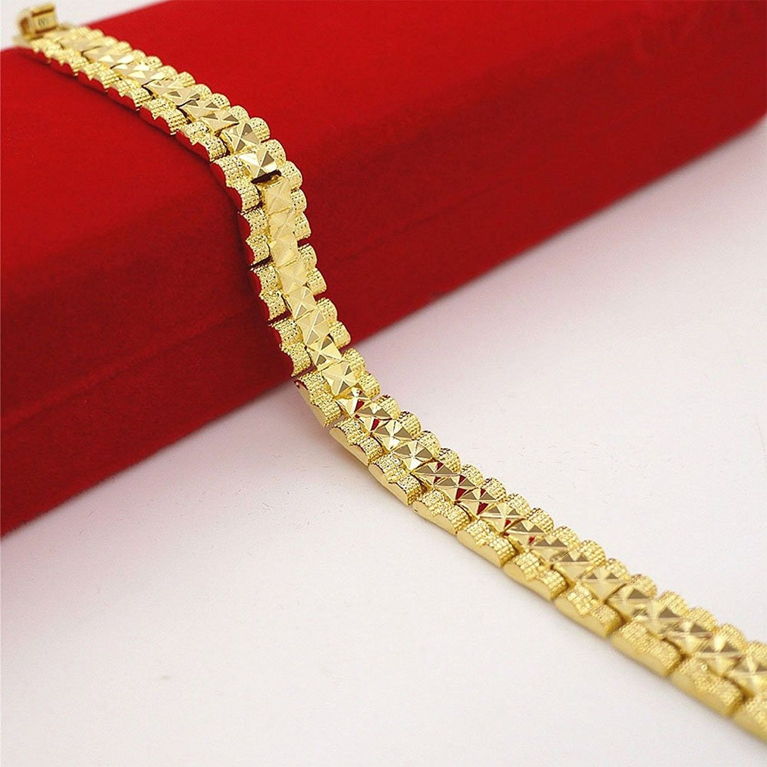 K gold fill bracelet handmade high polished link bracelets