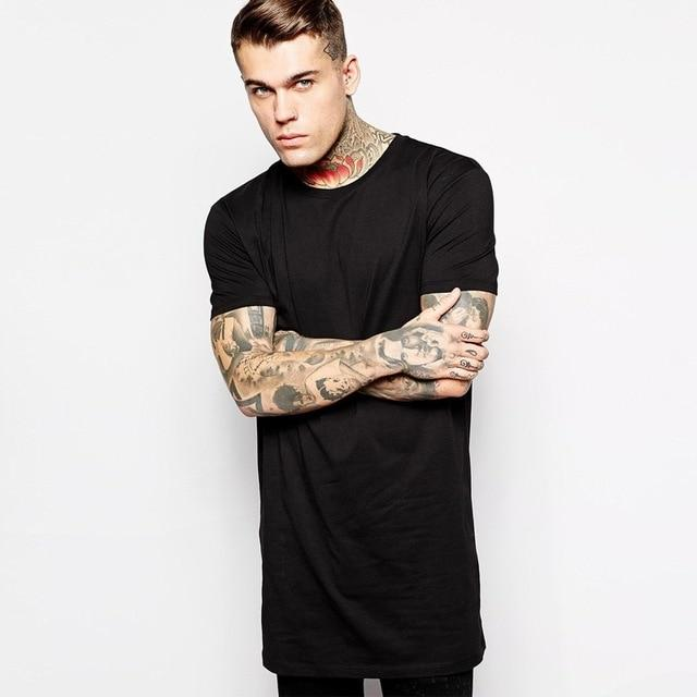 0a9b914e87 Hip Hop StreetWear Extra Long T in 2019 | Mens fashion | Long tee ...