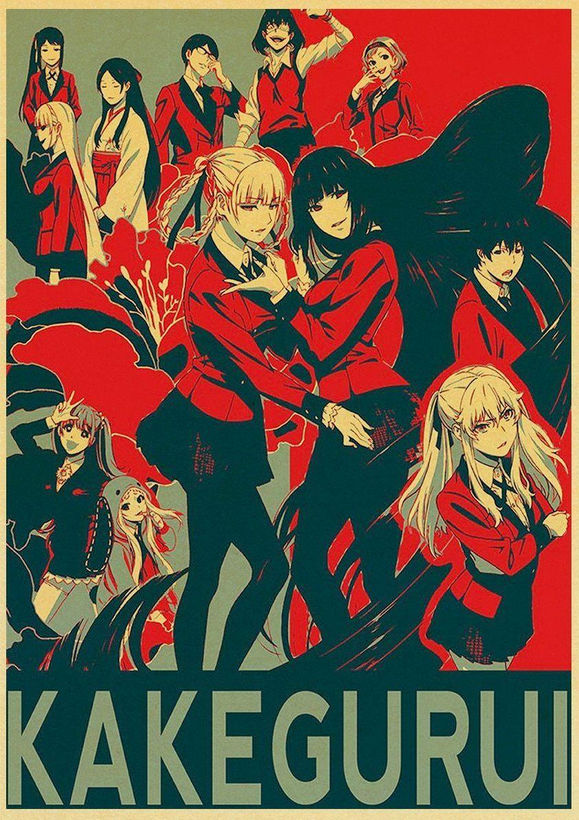 Back to College New Kakegurui Anime Poster Custom Vintage Poster Art Home Room Decoration Kraft Paper Wall Poster Prints - 42X30cm-02 / Q018 / China