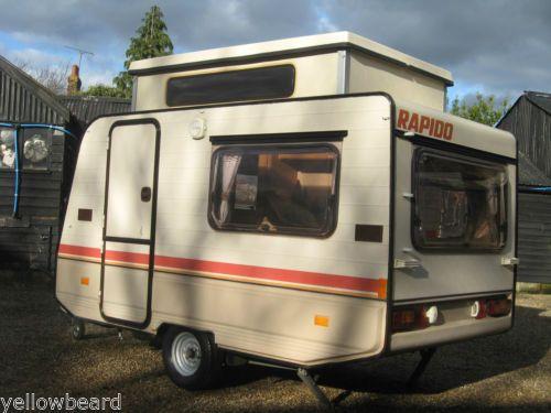 Rapido Folding Pop Top Caravan 2 Berth Awning Slimline Lightweight Bargain Ebay Mini Caravan Caravan Caravans