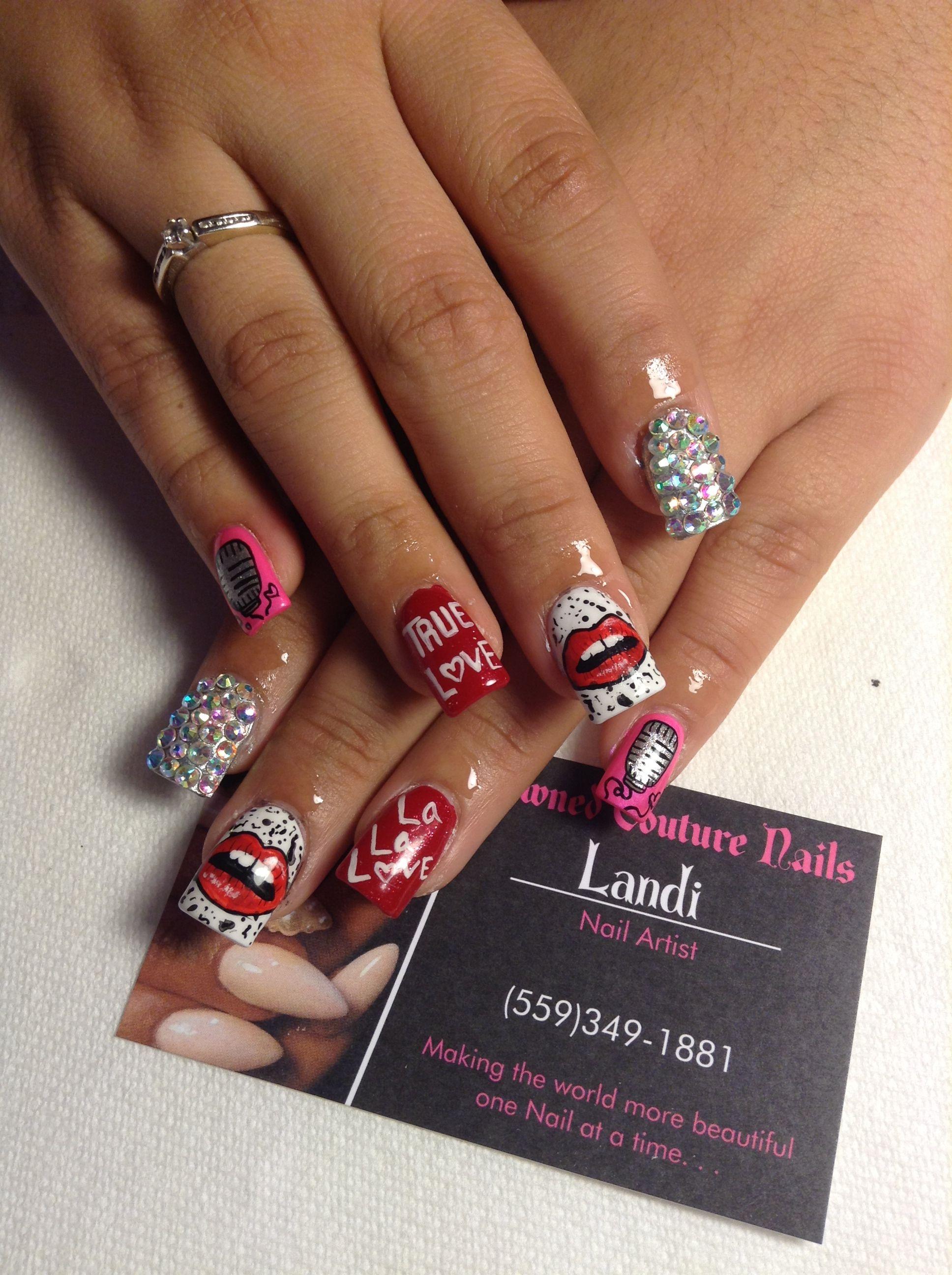 P!NK nails | shared nail art | Pinterest | Work nails and Nail nail