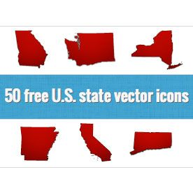 Really Nice Editable Vector Icons Of All 50 States Each On Its Own Layer Thanks For Making The World A Better Place Josh Jackso Vector Icons Icon Vector