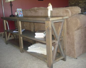 Popular Items For Rustic Sofa Table On Etsy