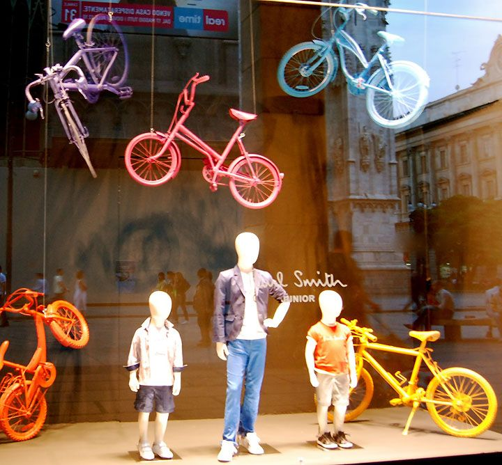 Milano children windows visual merchandising