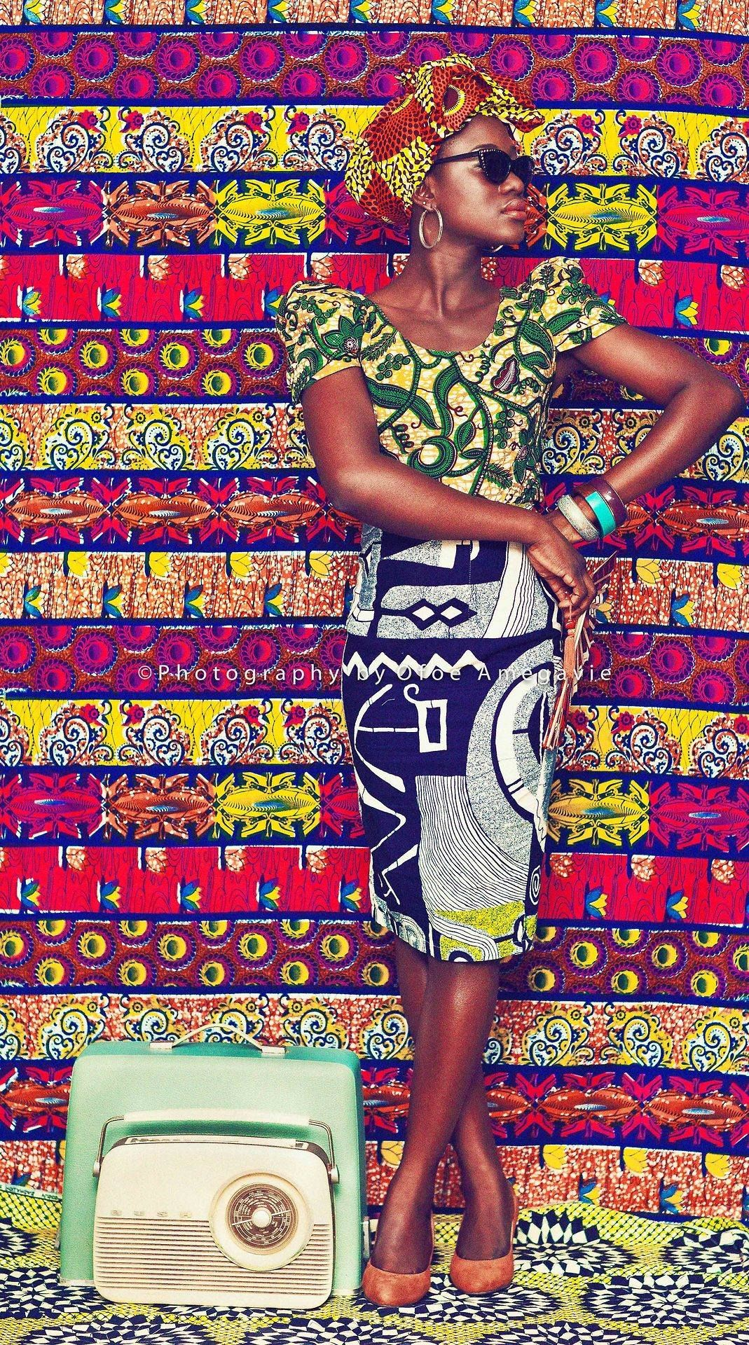 I love African Fabric... it makes me smile! Photo by Ofoe Amegavie