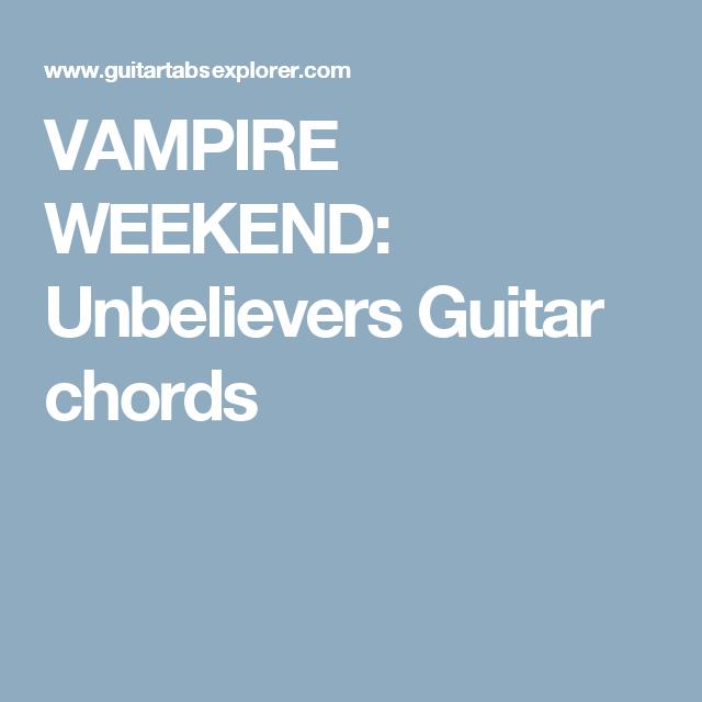 Vampire Weekend Unbelievers Guitar Chords Learning The Ukelele