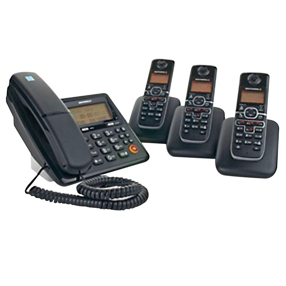 8c7aa2ad3de Dect 6.0 Corded and Cordless Phone System with 4-Handsets and Answering  System