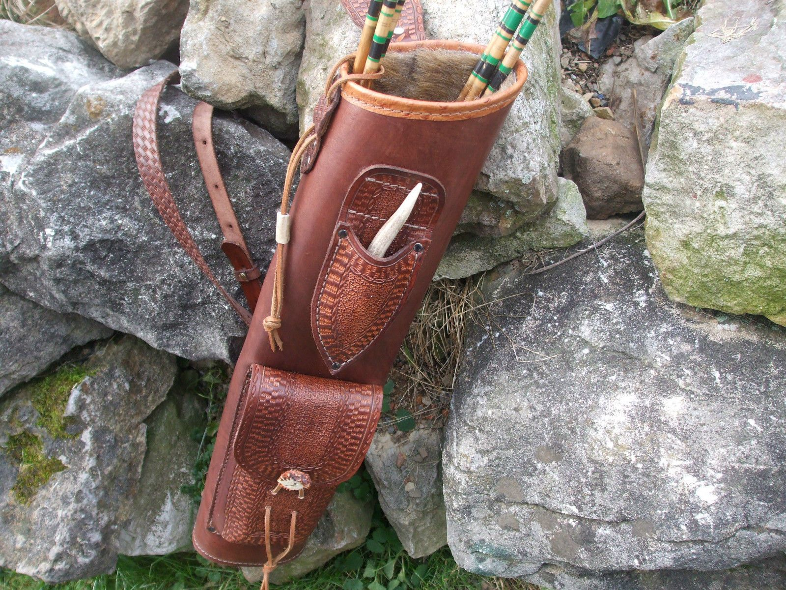 Broadhead Knife Leather Back Quiver Archery Right or Left ...  Broadhead Knife...