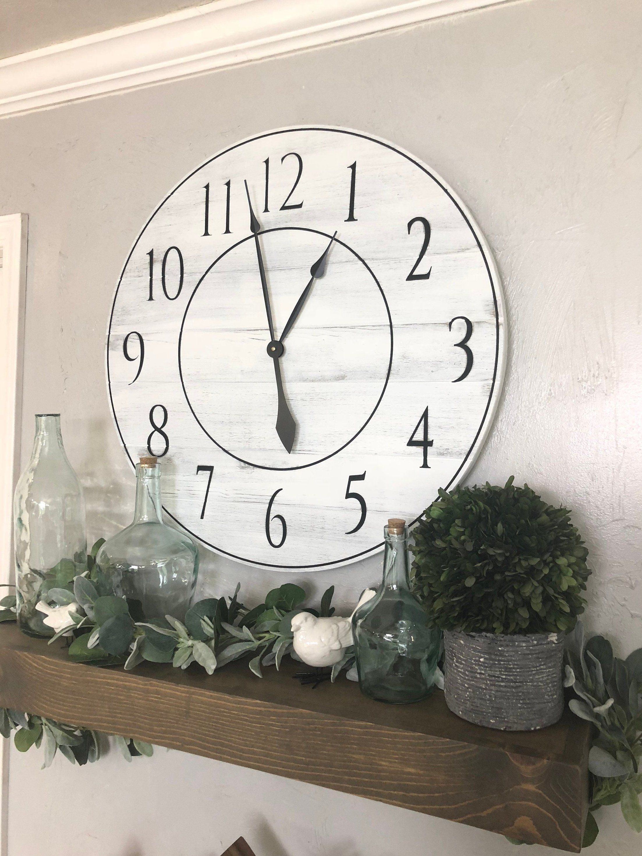 20 Fascinating Diy Wall Clock Design Ideas For Modern Home Decoration To Try Adorable 20 Fascinating In 2020 Wall Clocks Living Room Big Wall Clocks Clock Wall Decor