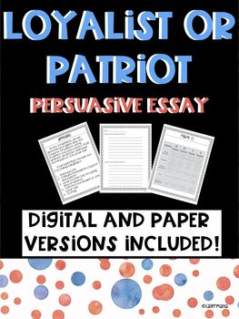 Research Writers The Loyalists Take On The Patriots In A Revolutionary War Persuasive  Writing Lesson Students Use Persuasion And Evidence From Research To  Support Their  Sample High School Admission Essays also Interesting Persuasive Essay Topics For High School Students Persuasive Essay Loyalists Vs Patriots  Th Grade Historyss  Modest Proposal Essay Ideas