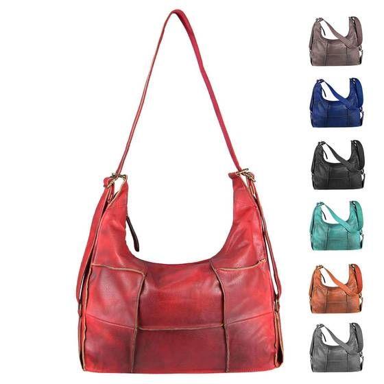 OBC Damen XXL Tasche Shopper Vintage Tote Bag Handtasche Umhängetasche Schultertasche Beuteltasche Leder Optik Reise Hobo Bag Crossbody #bagpatterns